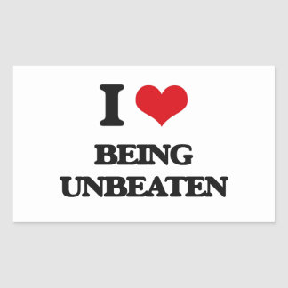 I love Being Unbeaten Rectangular Sticker