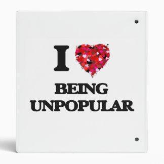 I love Being Unpopular 3 Ring Binders