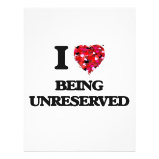 """I love Being Unreserved 8.5"""" X 11"""" Flyer"""