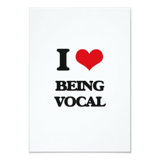 I love Being Vocal 3.5x5 Paper Invitation Card
