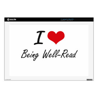 I love Being Well-Read Artistic Design Laptop Decal