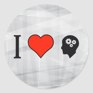 I Love Being With Smart People Classic Round Sticker