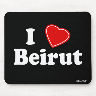 I Love Beirut Mouse Pad