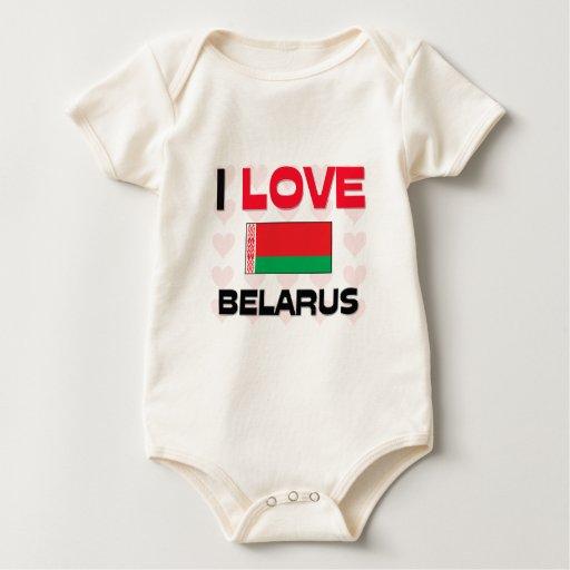 I Love Belarus Baby Bodysuits