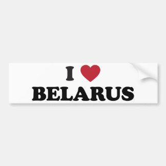 I Love Belarus Bumper Sticker