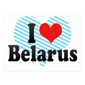 I Love Belarus Postcard