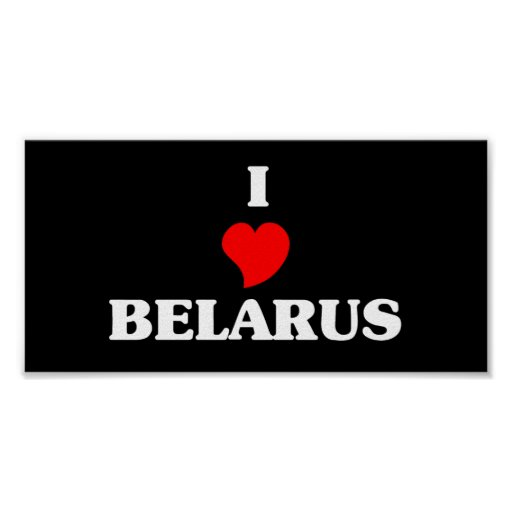 I Love Belarus Print