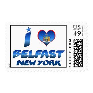 I love Belfast, New York Postage