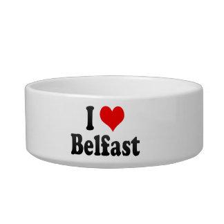 I Love Belfast, United Kingdom Cat Food Bowl