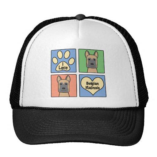 I love Belgian Malinois Trucker Hat
