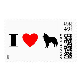 I Love Belgian Sheepdogs Stamps