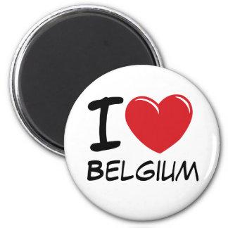 I Love Belgium 2 Inch Round Magnet