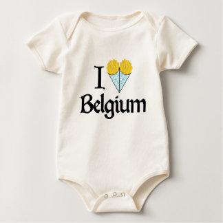 I Love Belgium Baby Bodysuit