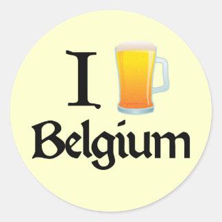 I Love Belgium Classic Round Sticker