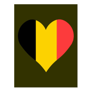 I Love Belgium Heart Postcard