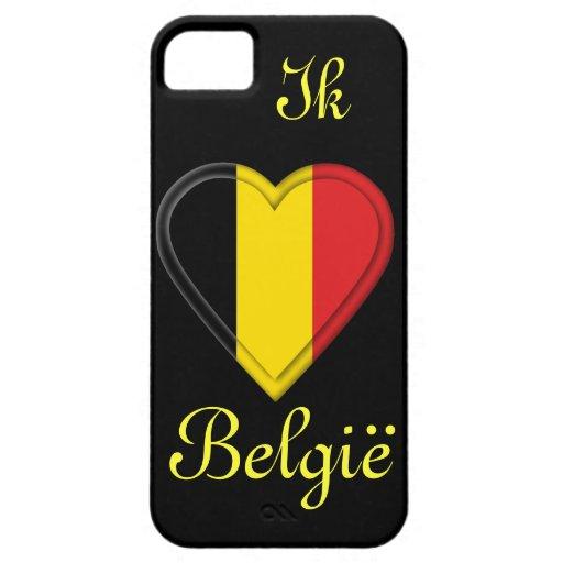 I love Belgium - Ik hou van België - in Dutch iPhone 5 Case