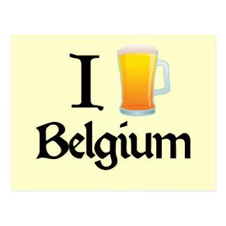 I Love Belgium Postcard