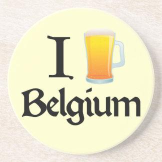 I Love Belgium Sandstone Coaster