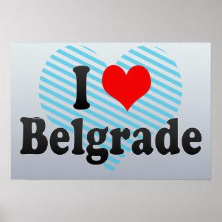 I Love Belgrade, Serbia Poster