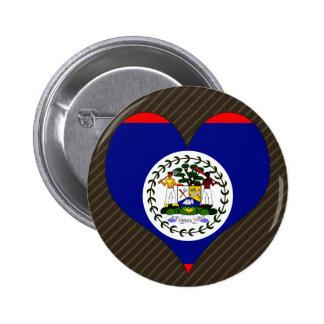 I Love Belize 2 Inch Round Button