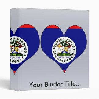 I Love Belize 3 Ring Binders