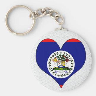 I Love Belize Basic Round Button Keychain