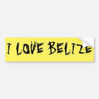 I Love Belize Bumper Sticker