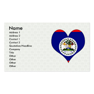 I Love Belize Double-Sided Standard Business Cards (Pack Of 100)