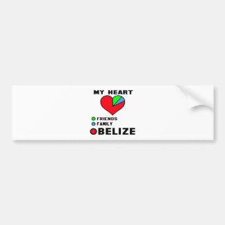 I love Belize. Car Bumper Sticker