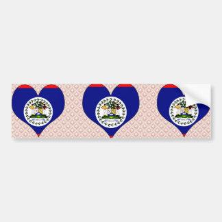 I Love Belize Car Bumper Sticker