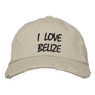 I LOVE BELIZE Distressed Baseball Cap