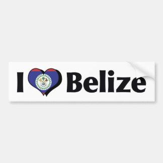 I Love Belize Flag Car Bumper Sticker