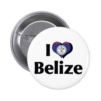 I Love Belize Flag Pinback Button