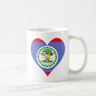I Love Belize Heart Classic White Coffee Mug