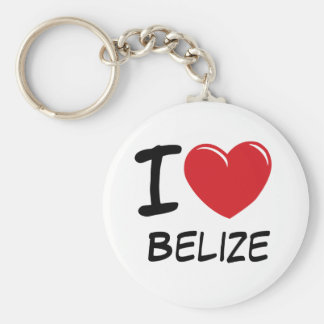 I Love Belize Keychain
