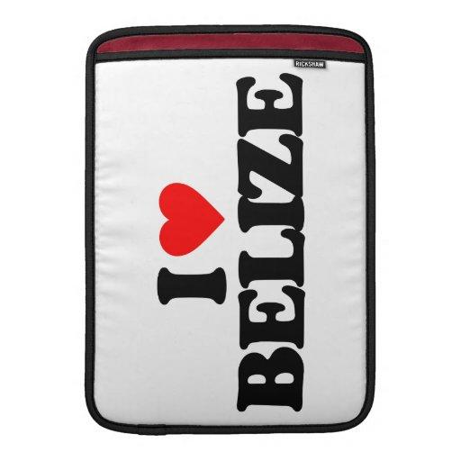 I LOVE BELIZE MacBook SLEEVES