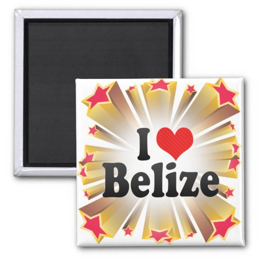 I Love Belize Magnets