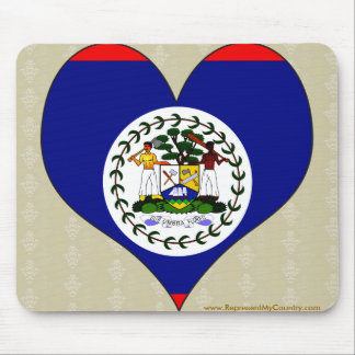 I Love Belize Mouse Pad