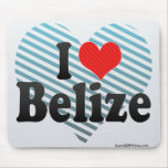 I Love Belize Mouse Pad