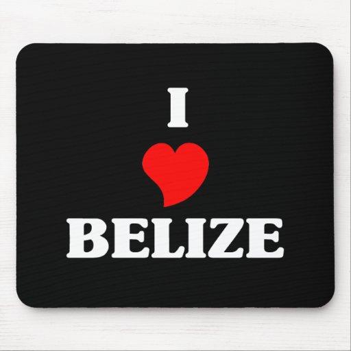 I Love Belize Mouse Pads