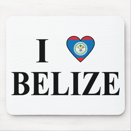 I Love Belize Mousepads