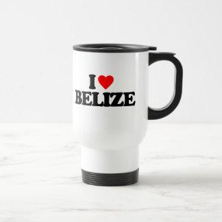 I LOVE BELIZE 15 OZ STAINLESS STEEL TRAVEL MUG