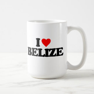 I LOVE BELIZE CLASSIC WHITE COFFEE MUG