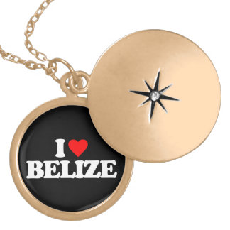 I LOVE BELIZE PERSONALIZED NECKLACE