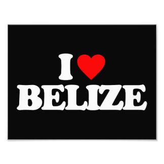 I LOVE BELIZE ART PHOTO