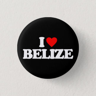 I LOVE BELIZE PINBACK BUTTON