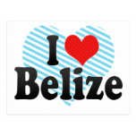 I Love Belize Postcard