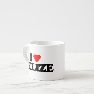 I LOVE BELIZE 6 OZ CERAMIC ESPRESSO CUP