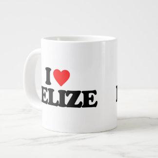 I LOVE BELIZE 20 OZ LARGE CERAMIC COFFEE MUG