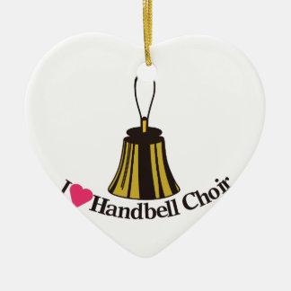 I Love bell Choir Ceramic Ornament